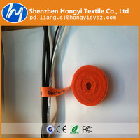 Customized printed logo hook and loop cable tie
