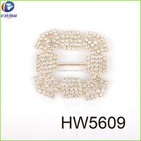 Gold high quality rhinestone buckle with 888 crystal rhinestone square buckle
