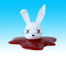 Lovely resin bunny head toy for kids