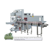 Automatic Sleeve Wrapper for pet glass metal bottles