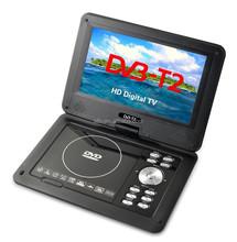 9inch portable DVD player with digital built in ATSC/DVBT/DVB-T/DVB-T2TV tuner player