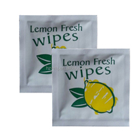 Popular lemon scented wet wipes for hand and face cleaning adult use