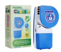 Factory direct sale lithium battery operated Hand-held mini cooler fan