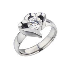 Female Stainless Steel Diamond Engagemetn Rings for Forever Love Symble Jewelry