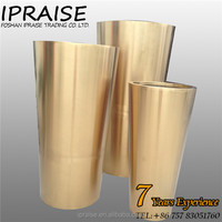 Tall Luxury metal flower vase for wedding decoration