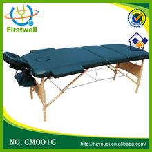 Portable 3 Fold Massage Table Facial Bed W/Sheet adjustable wooden massage bed