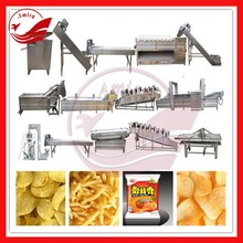 Stainless steel automatic 30-300kg/h potato chips production line automatic potato chips processing machine