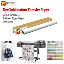 SEB Dye-Sub Transfer Paper | manufacturer specialized suppliers dye sublimation photo paper/sublimation paper suppliers