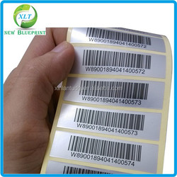Clear waterproof barcode label,black label price ,wine label and bottle label
