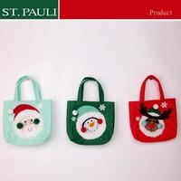 bulk kids favor novelty felt sant claus snowman reindeer design christmas gift bag