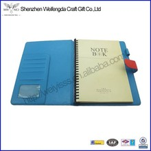 Custom assorted color a4 PU leather spiral notebook wholesale