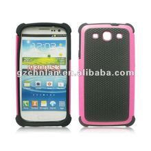 Dual Combo Grip Back Silicone Gel Case Hard / Soft Cover For The Samsung Galaxy S3 I9300
