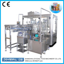 Best price of juice spout pouch filling machine/rotary cement packing machine