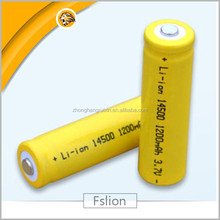 Wholesale 14500 oem li ion battery 3.7v 1200mah 14500 1200mah battery