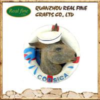 Wholesale OEM/ODM France corsica souvenir resin fridge magnet characters