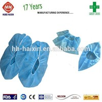 Haixin manufacturer cheap and fine disposable nonwoven shoe cover for reception office