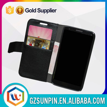Card holder shockproof heavy duty flip wallet cover case for lg g2 D802