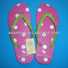 Guangzhou factory customized latest beach walk wedding flip flops