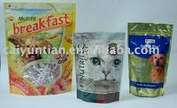 stand up pouch with zipper for coffee& cat food&dog food&tea