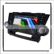 8 pulgadas profesional digital de pantalla táctil resolución de vídeo del coche del dinar de dvd para toyota highlander