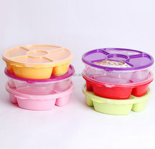 Segment Candy Plate, Divided Candy Container,Customized Color Candy Container