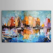 Hand-painted Modern home goods Wall Art decor Canvas Painting by Palette Knife