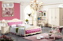 Latest beautiful korean style single bed with storage