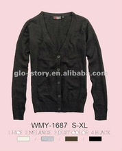 ladies front button closure cardigan sweater AW2012