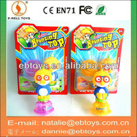 14cm plastic pororo toy beyblade with lights