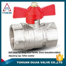 casting iron handle 1.6 mpa middle pressure nickle plated nsf ball valve socket weld