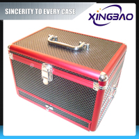 Interior clean cosmetic case,personal waterproof cosmetic case,PVC panel aluminum cosmetic case