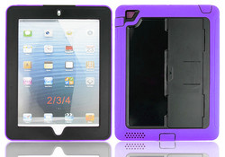 Best selling hard heavy duty defender case double layer specific Armor rugged Case Cover For iPad 2 3 4