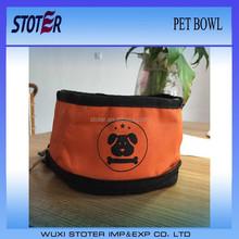 waterproof foldable pet water bowl pet food bowl portable