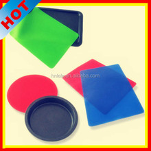 Custom made silicone rubber mat/rubber floor mat/silicone cup mat