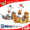 import from china 438PCS pirate ship enlighten building toys for boys