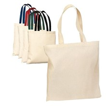 Factory good quality blank cotton tote bags