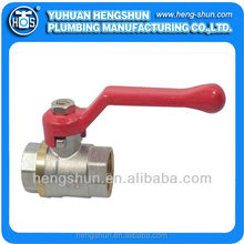 HS-B1011 forged brass ball valve with lever handle