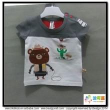 BKD combed cotton newborn jersey babies t-shirts