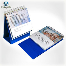 ucolor custom printed blue backboard table calendar designs