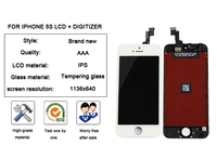 Mobile phone lcd screen assembly for iphone 5s lcd display with digitizer