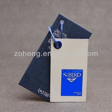 Special design Jeans brand Hang Tag for garment