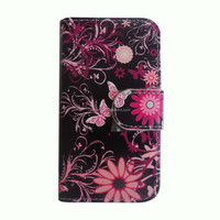 Factory Price Hot Selling Wallet Cell Phone Case filp leather printing case cover for Samsung S5862