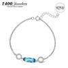 T400 women's wholesale jewelry 925 sterling silver bracelet crystals form swarovski elements