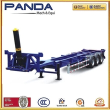 Panda Electric operation lifting container trailer skeleton container semi trailer,container transport semi trailer