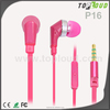 good sounds plastic earbuds high quality flat cable in ear mobile earbuds with logo with ce
