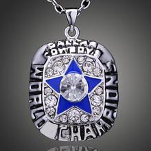 2015 New Basketball fashion silver jewelry championship necklace