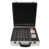 Locking Hi-Grade Aluminum Poker Chip Case by Claysmith Gaming, 500-count