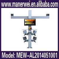 Convenient operating 3D/5D smart system slip plates turntables wheel alignment parts