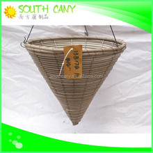 Newest style high grade top sale brown and white wicker flower basket