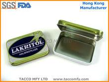Rectangular Mint sugar metal small tinbox